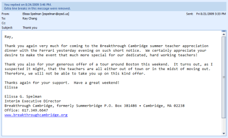 breakthrough cambridge thank you letter
