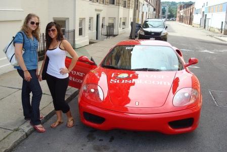 Jessica & Mariel Leibowitz - Winner of FreeFerrariRides.com Boston City Tour